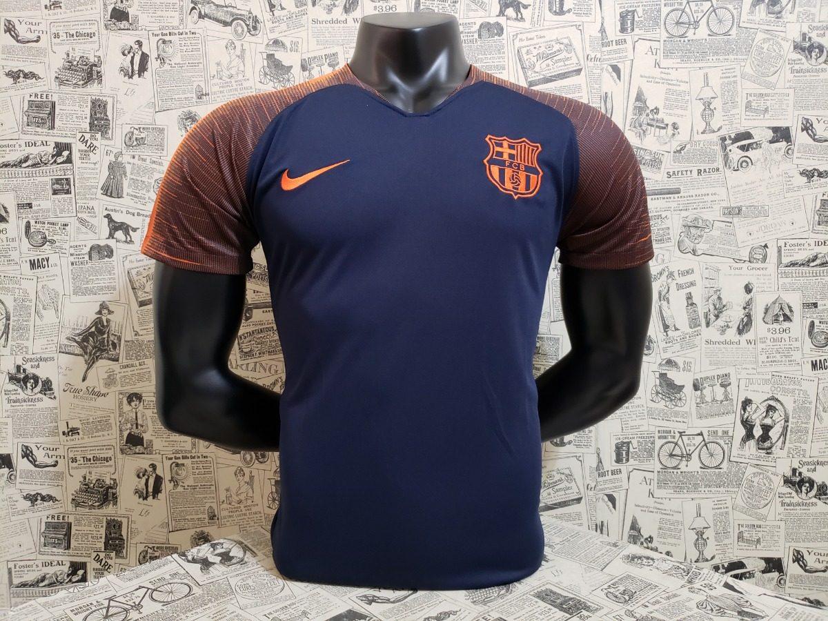 camisa barcelona treino -2018 19 - frete grátis. Carregando zoom. 20b0d97785ee8