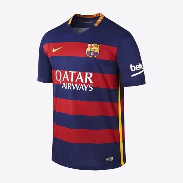 Camisa Barcelona - Uniforme 1 - 2015   2016 - R  130 2962de9ca60