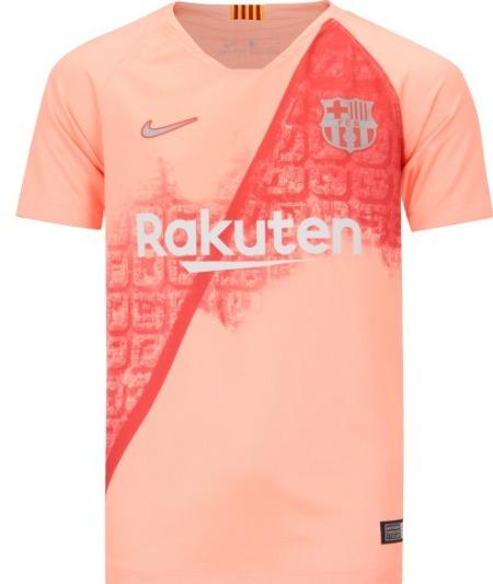Camisa Barcelona - Uniforme 3 - 2018   2019 - Frete Grátis - R  155 ... 17eca0bd560