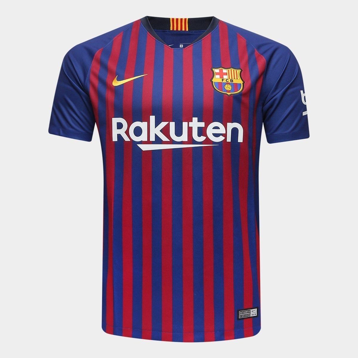6076ebb14b006 camisa barcelona uniformes 1 2 e 3 2018   2019 frete grátis. Carregando zoom .