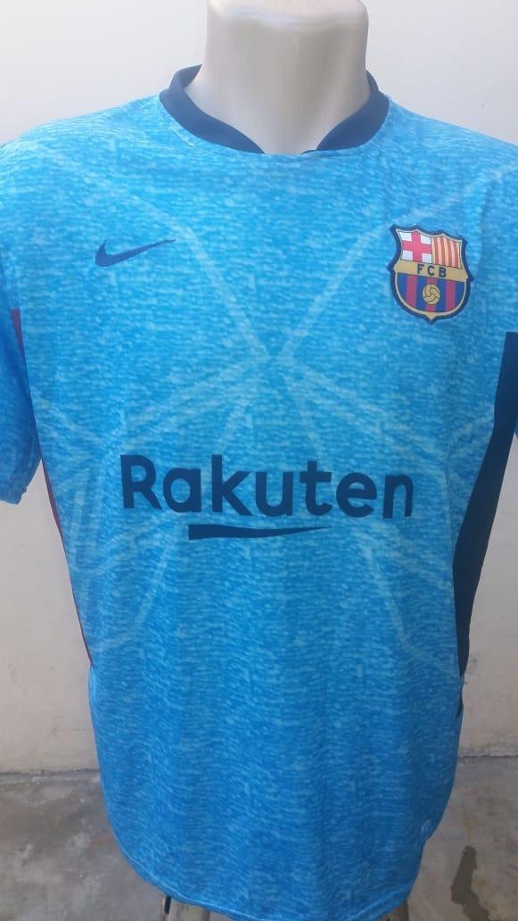 camisa barcelona verde claro costas( coutinho) azul barça. Carregando zoom. ecc3e9c4eea6b