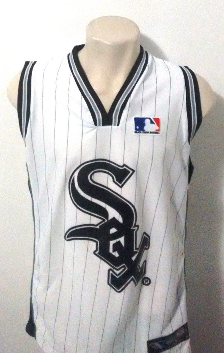 ad2f4802ca497 camisa baseball chicago white sox branca regata - cabrera 53. Carregando  zoom.