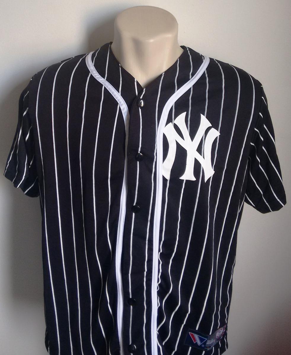 64b1220f0ca30 camisa baseball new york yankees preta - est 1903. Carregando zoom.