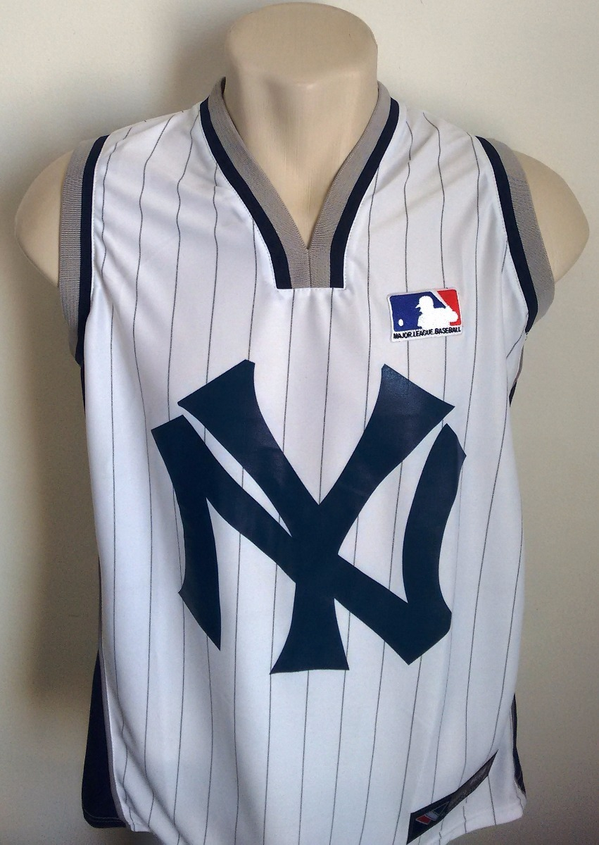 427be659274fe camisa baseball new york yankees regata branca - est 1903. Carregando zoom.