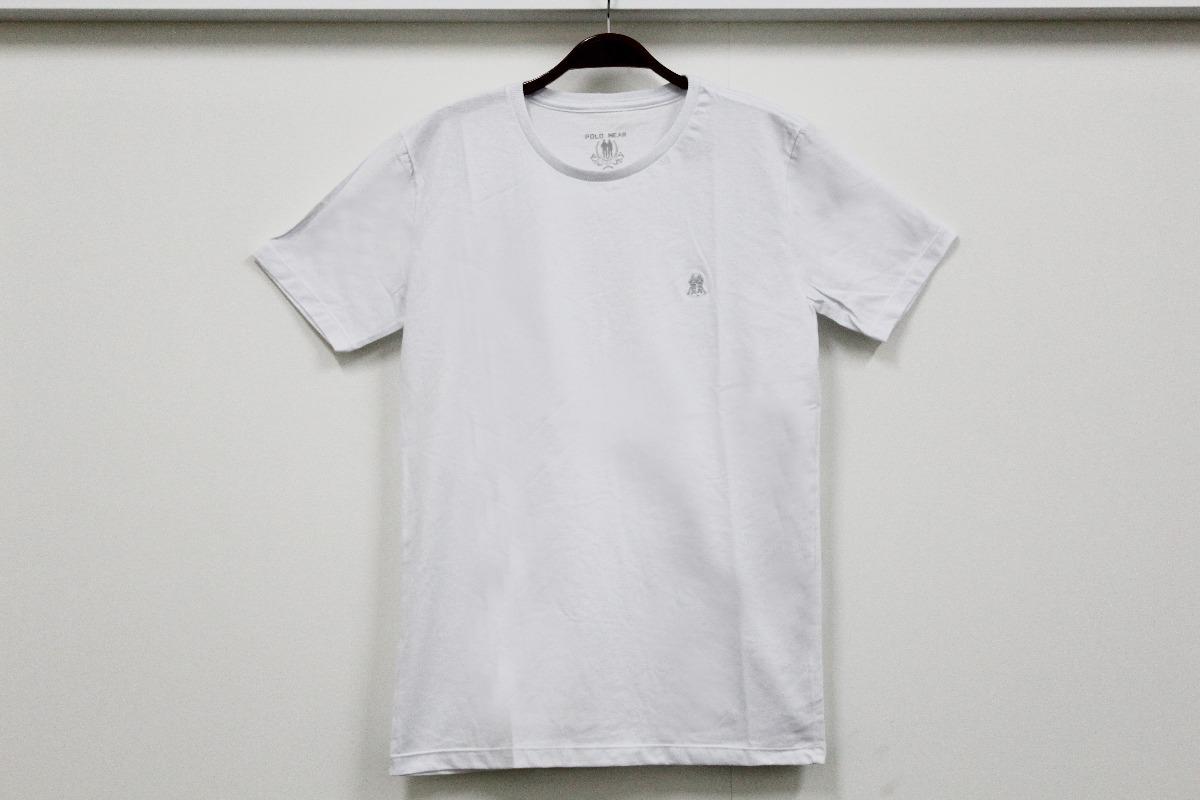 44b8ef8c7d camisa básica masculina polo wear branca p0000298810. Carregando zoom.