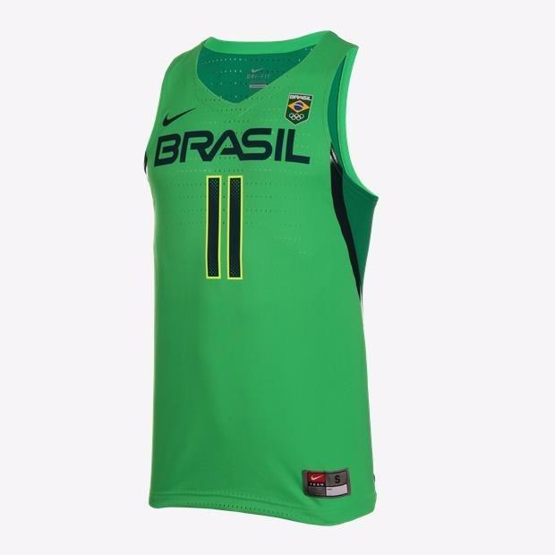 aac1e1dcbf224 Camisa Basquete Brasil Verde Varejão  11 Jogador - Nefut - R  329