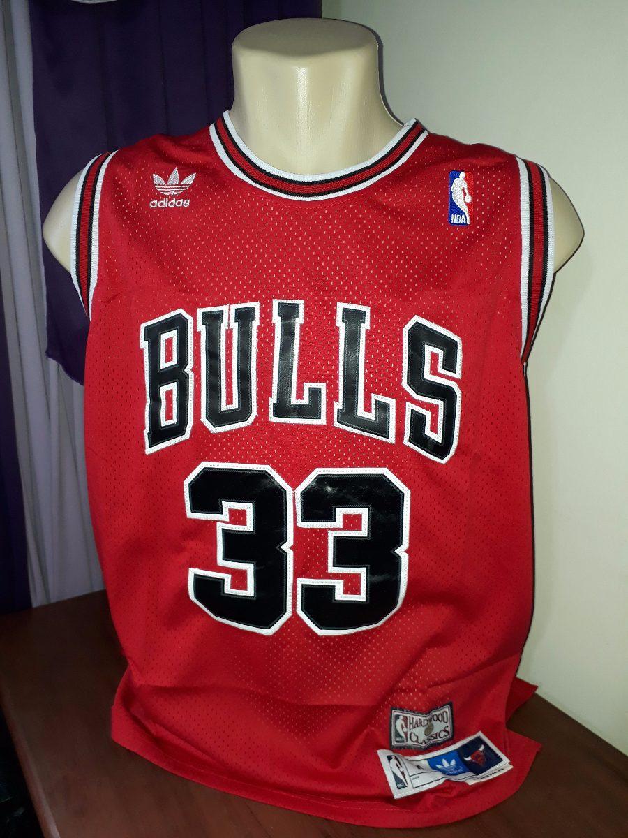 b453e49c7 Camisa Basquete Chicago Bulls Pippen Promoção R  95