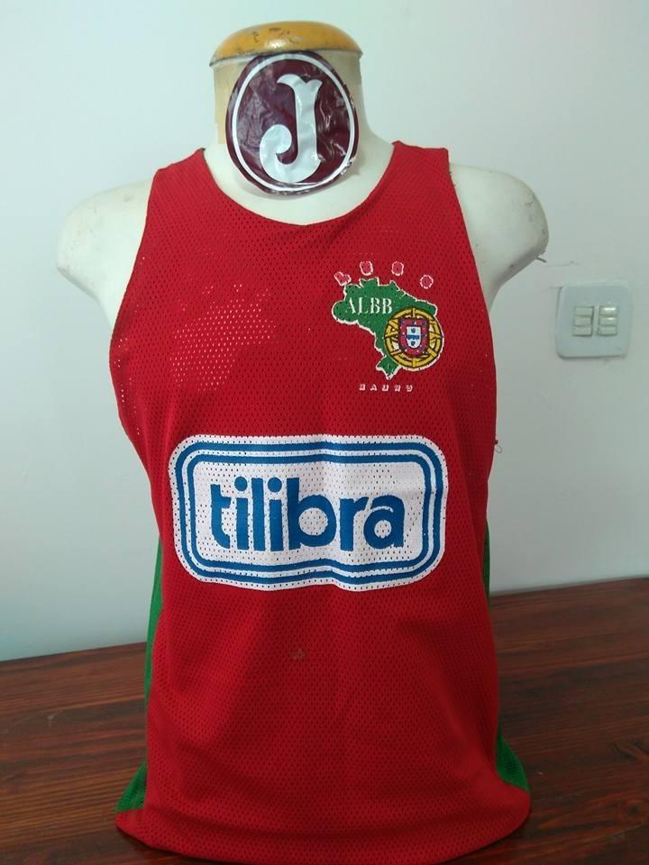4884829a4cac3 Camisa Basquete Jogo Dubla Fase Luso Albb Bauru Tilibra - R  70