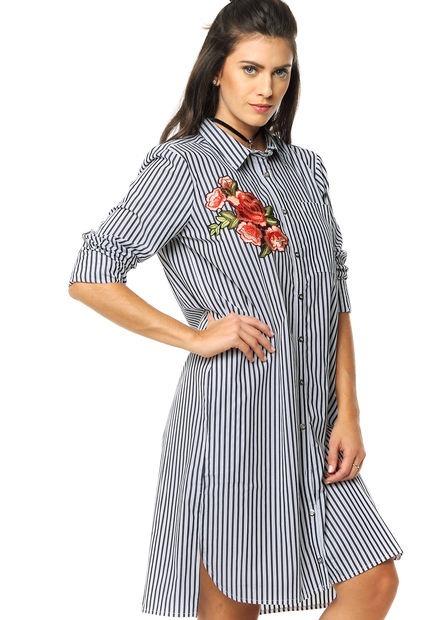 fbf2f6a1de Camisa Basquiat Larga Mujer Informal noche Estampado Flores -   750 ...