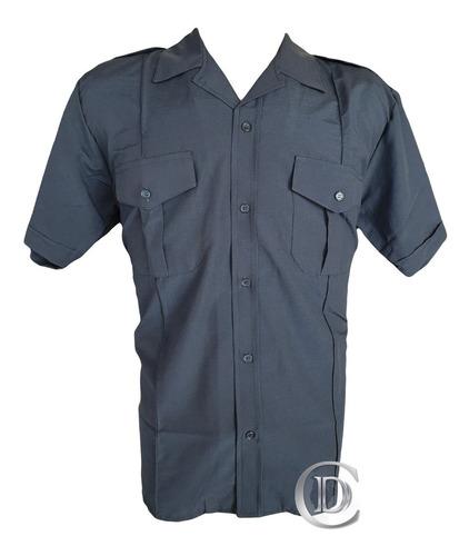 camisa batista de verano manga corta para uniforme