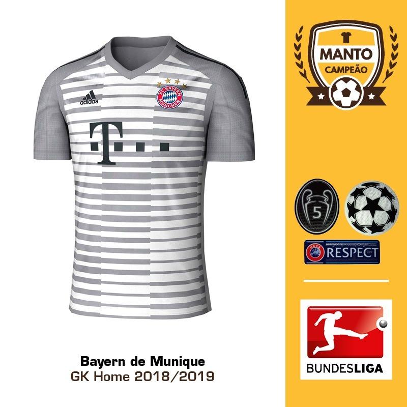 0b95a72a13 Camisa Bayern De Munique 18 19 Goleiro Uniforme 1 Neuer - R  125