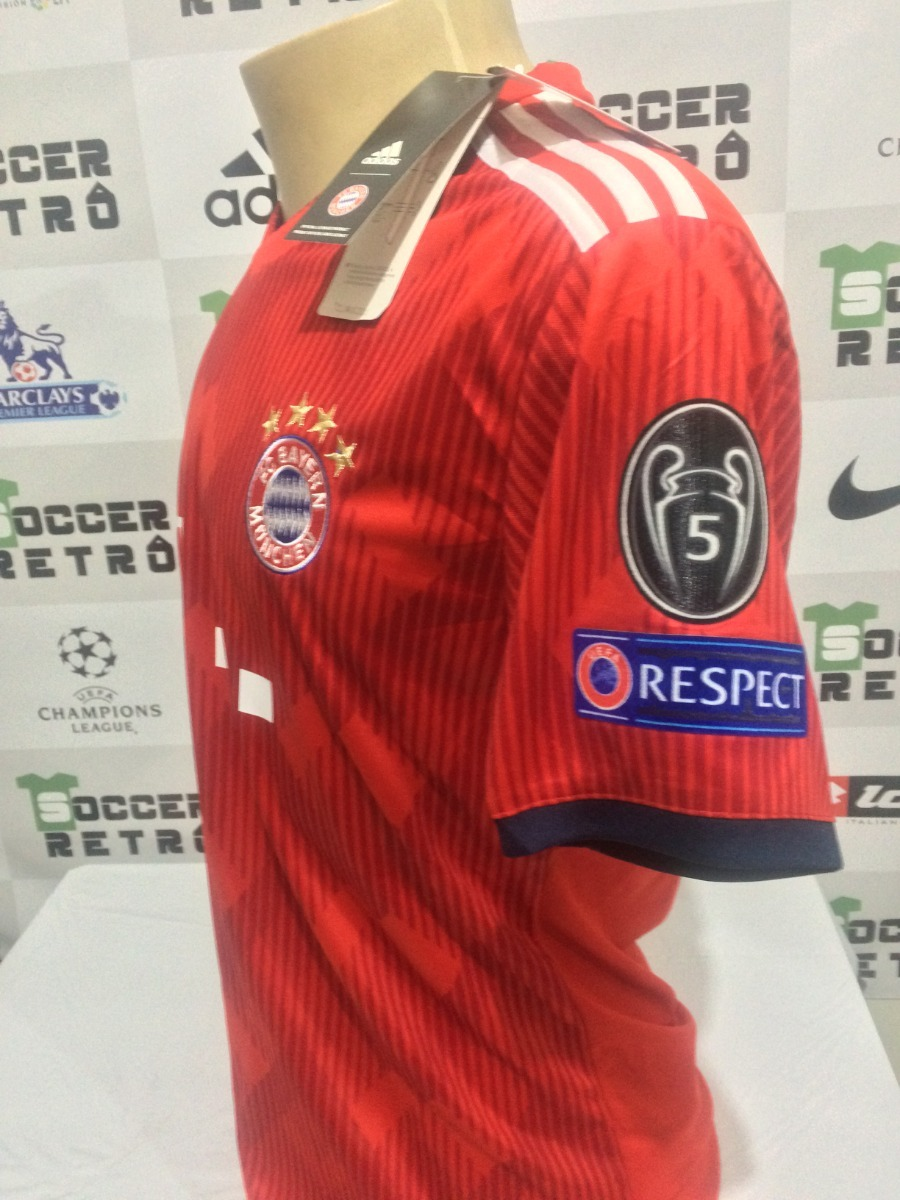 b2fb786e49 Camisa Bayern De Munique 2018-19 Robben 10 Champions League - R$ 199 ...
