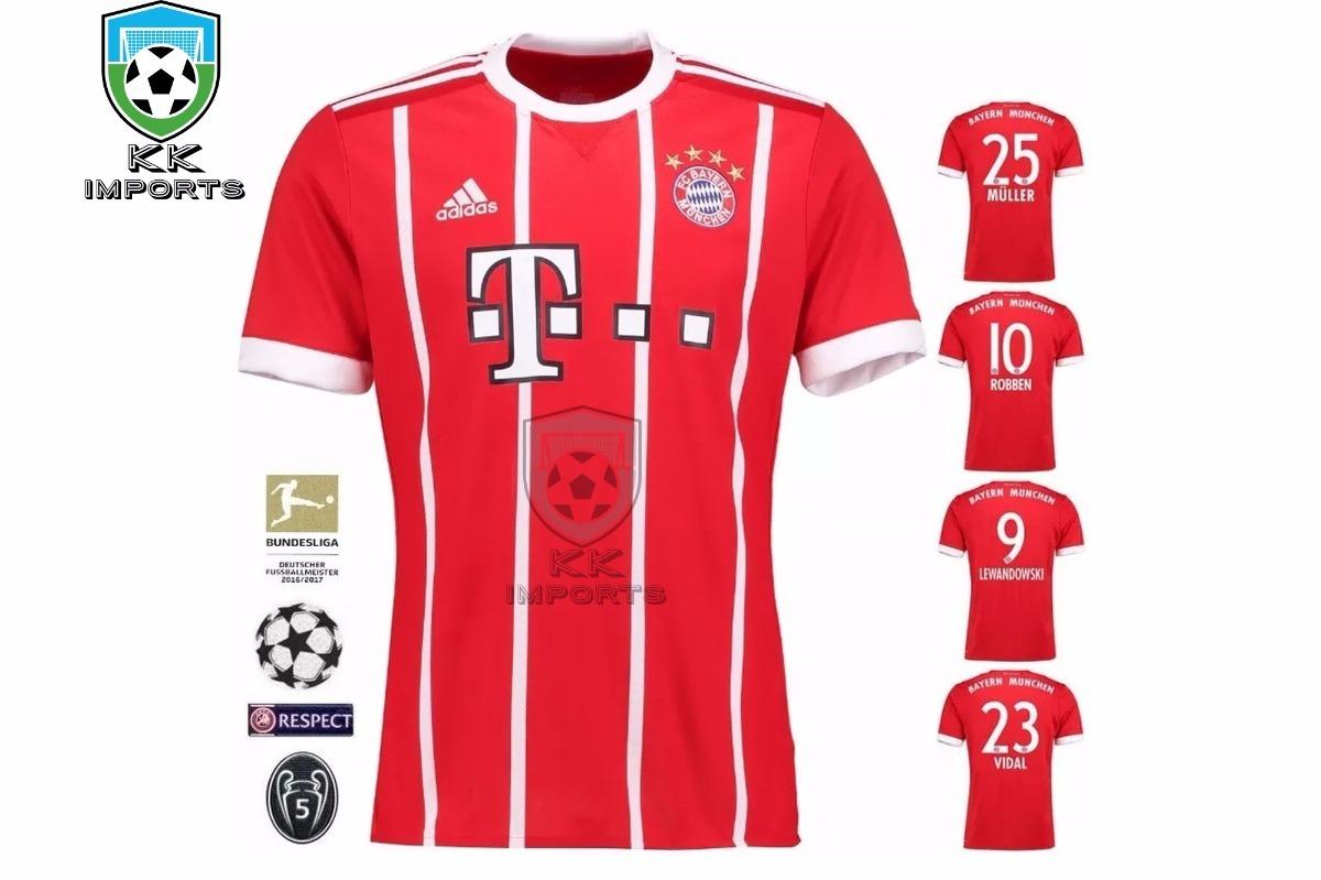 6dc9fbd61a Camisa Bayern Munchen 2017/2018 Player Sob Encomenda - R$ 220,00 em ...