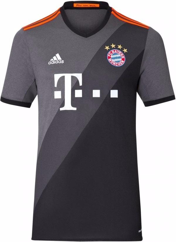 Camisa Do Bayern De Munique Nova Frete Alemão Preta Cinza 17 - R  89 ... 92762b4af3521