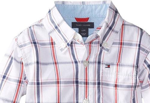 camisa bebe niño tommy hilfiger talla 4 100% original/nueva