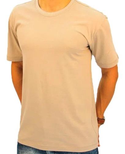 camisa bege básica de algodão lisa atacado masculino