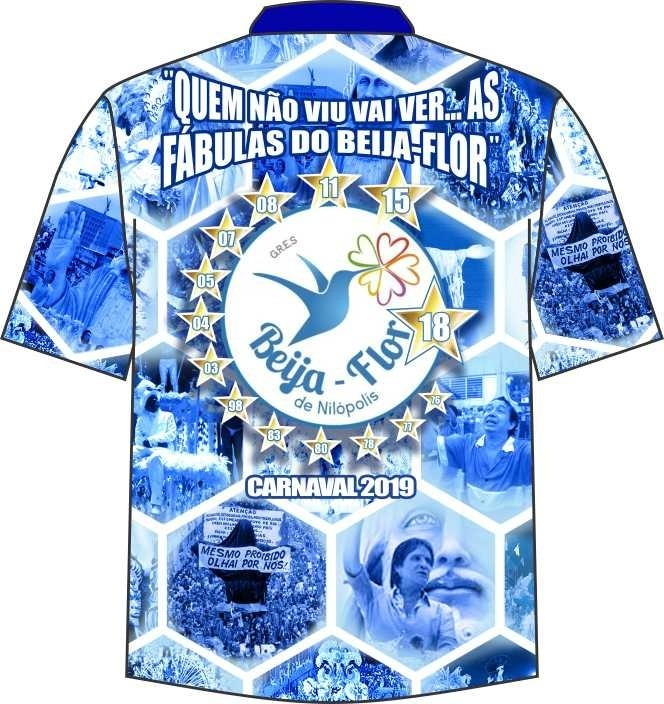 Camisa Beija Flor De Nilópolis Carnaval 2019 - R  60 8c028ce0dfaff