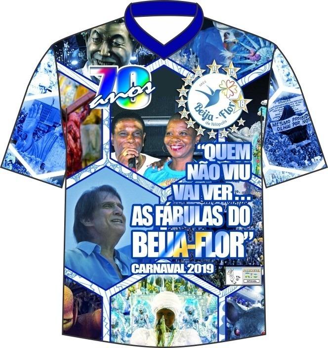 Camisa Beija Flor De Nilópolis Carnaval Rj Enredo 2019 - R  52 726b801d593f9