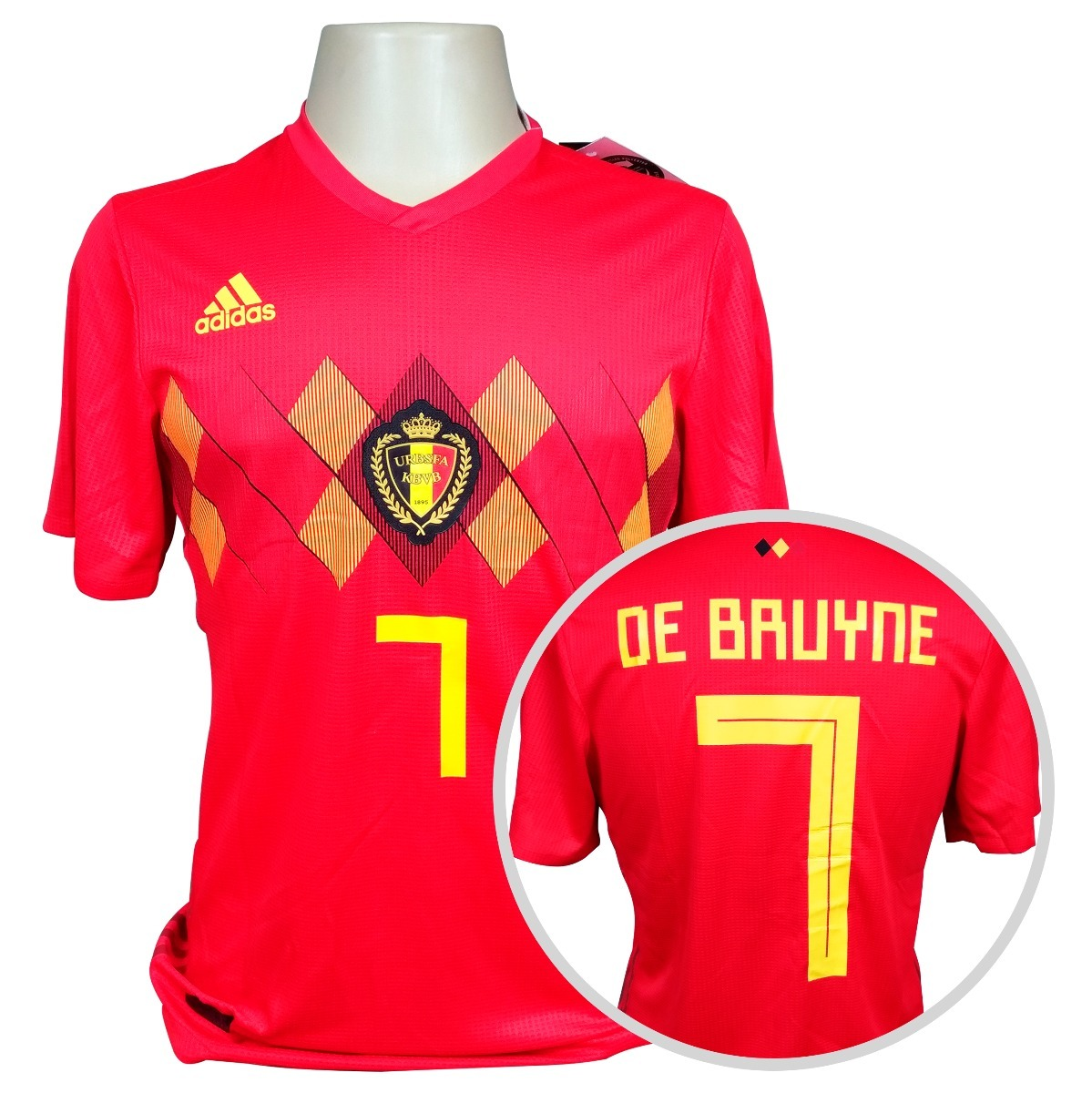 camisa bélgica adidas titular jogador copa 2018  7 de bruyne. Carregando  zoom. 13ca10f900c55