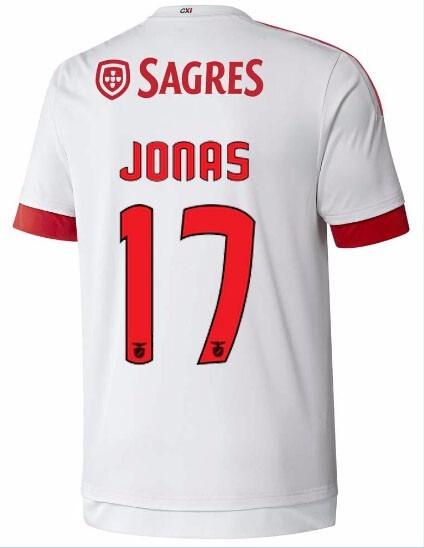 sports shoes bc098 74a01 Camisa Benfica 2016 - Jonas, Mitroglou, Gaitán, Talisca