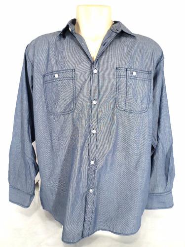 camisa beverly hills polo club manga longa azul