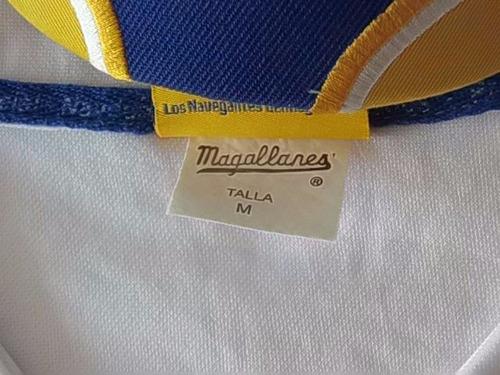 camisa blanca-azul magallanes caballero m usada  con gorra