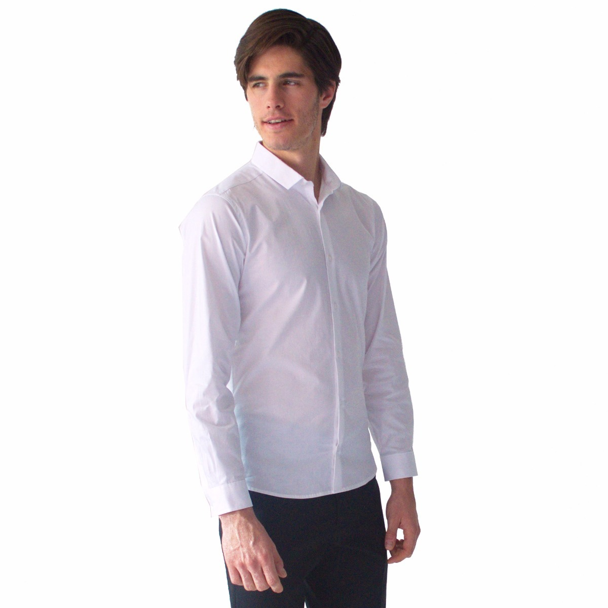 0e5ac8451 Camisa Blanca Casual Hombre Básico Cuello Rack   Pack -   709.00 en ...