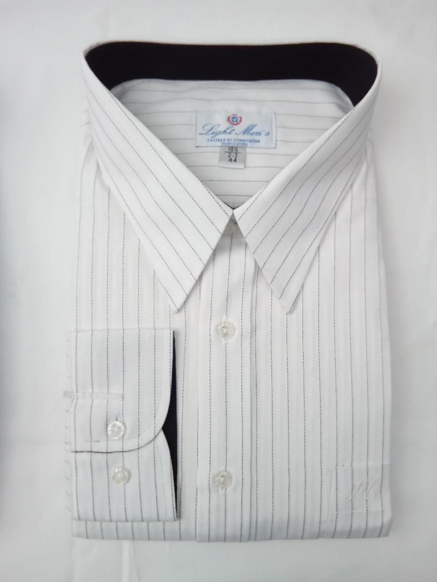 512ffd0e6 Camisa Blanca Con Rayas Negras Finas -   379.00 en Mercado Libre