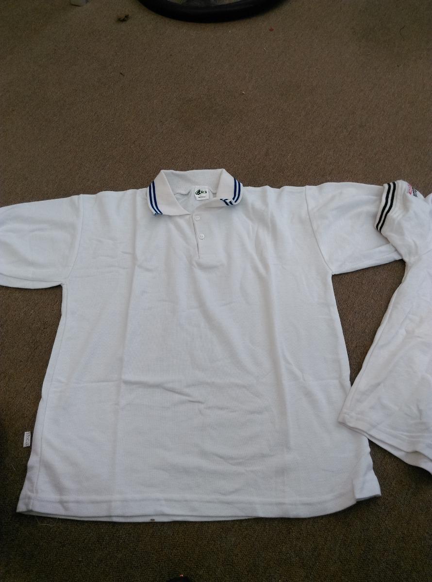 Camisa Blanca De Cuello Tipo Polo Para Niño -   100.00 en Mercado Libre a3cdac028c072