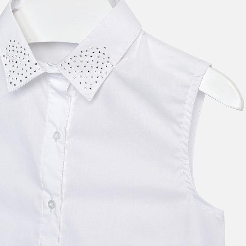 en venta cd030 eccbb Camisa Blanca De Niña Mayoral