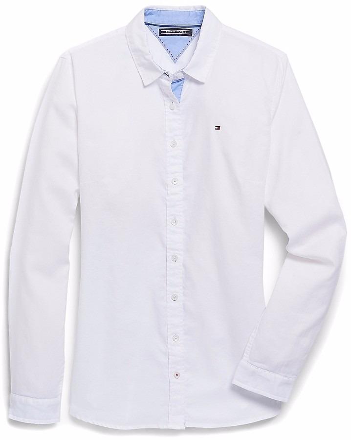 722dcf0e0ba Camisa Blanca De Vestir Tommy Hilfiger Casual Oficina -   899.00 en ...