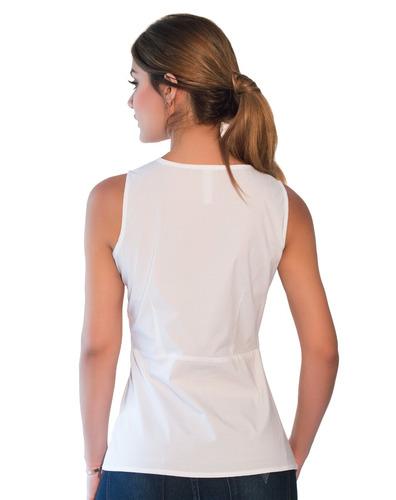 camisa blanca guayabita rebeca para damas