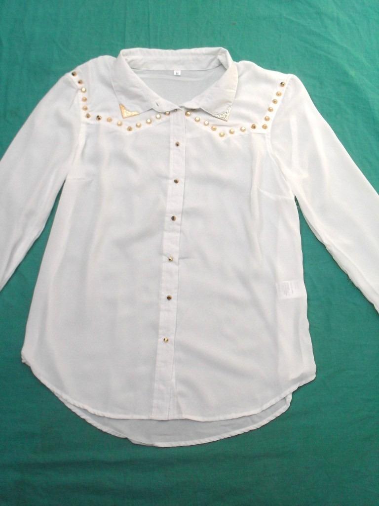 00 Xl 489 Camisa Blanca Manga Mujer Larga Puas Talle Nueva Con xv8xpzTwq