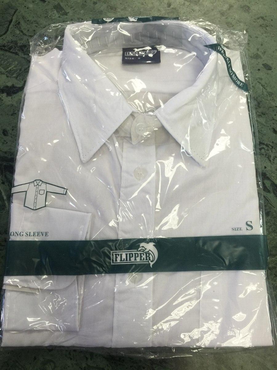 afd36617e camisa blanca manga larga para niños y hombres marca fliper. Cargando zoom.