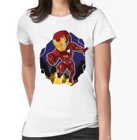 Mujer Iron Avengers Man Camisa Endgame Blanca 2IWED9H