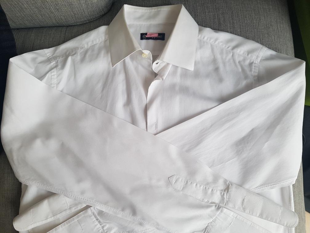 b61eb305f camisa blanca scappino para esmoquin talla 16 manga 4-5 ¡¡. Cargando zoom.