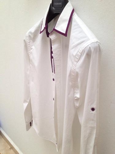 camisa blanca soho para hombre