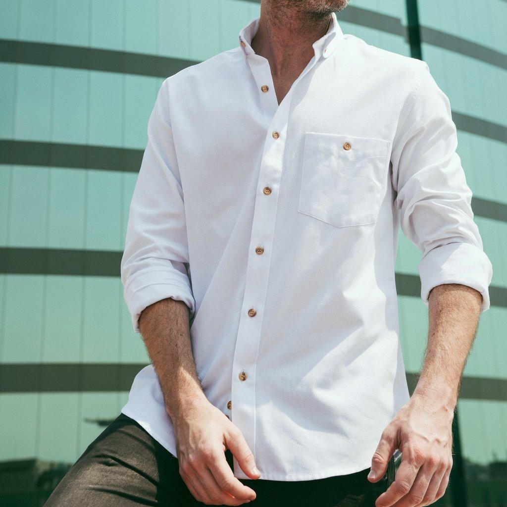 oxford blanca zoom camisa hombre vestir botones Cargando algodón elegante  w1dZ7XqnfZ d589a2de753