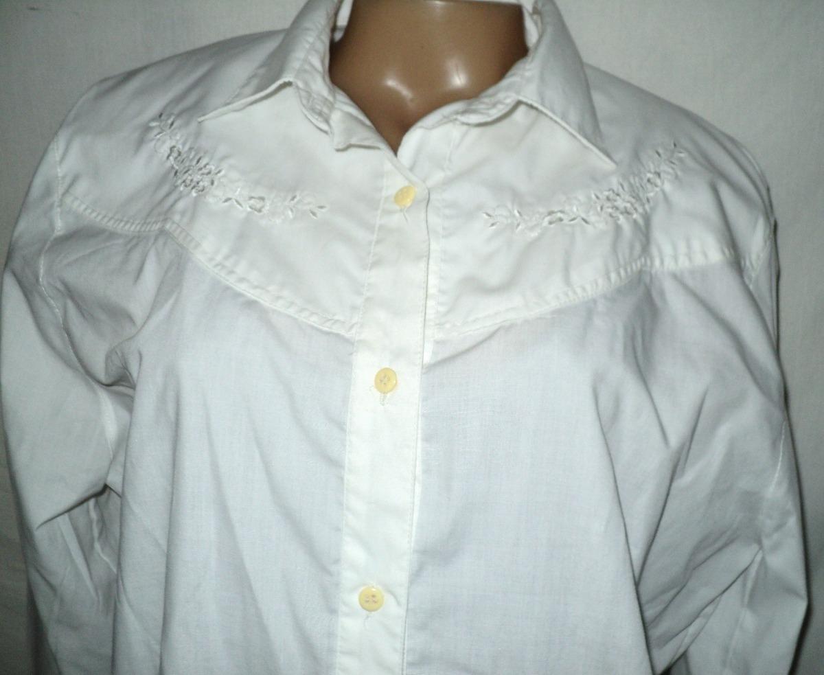 online aquí descuento más bajo estilo único Camisa Blanca Vestir Vintage Con Hombreras Talla 2 - $ 290,00