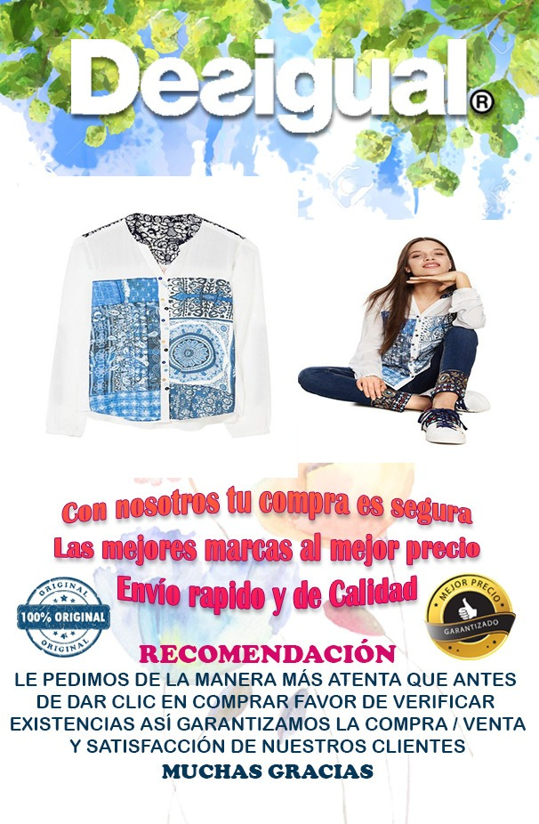 Blue Empaty En Dama 00 Camisa 089 Libre Para 2 Desigual Mercado 1dU8qn