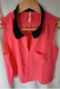 21fd9ef5b Camisa Blusa Bershka Grupo Zara Sin Mangas Rosa Importada