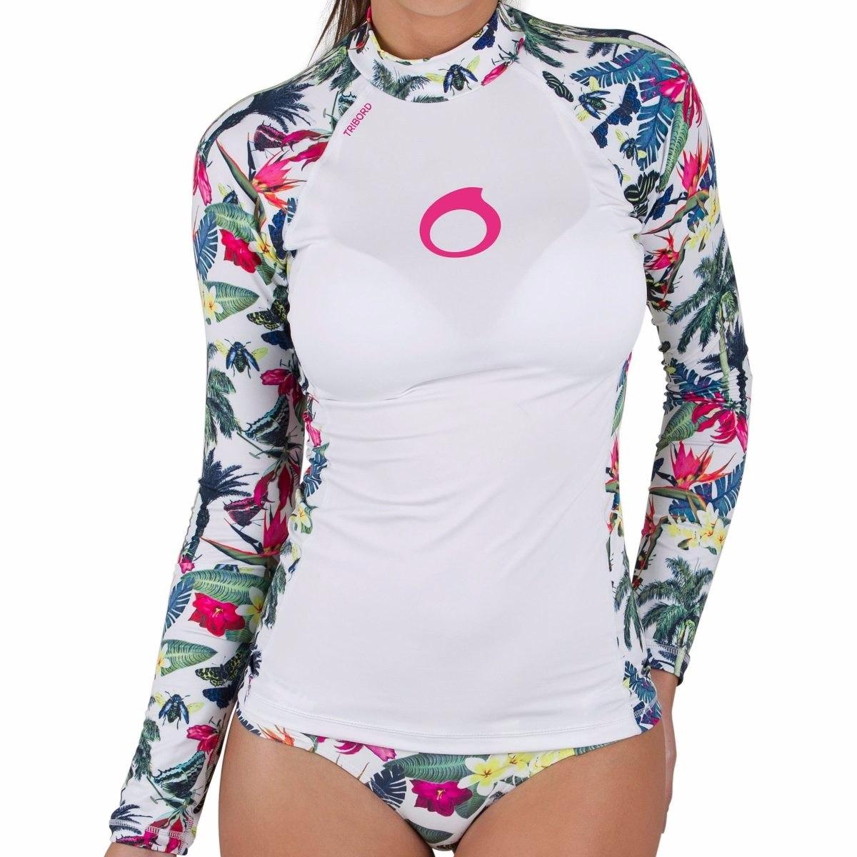 98dc85a2a830c Camisa Blusa+calcinha Feminina Protetor Raio Uv Ups 50 - R  167