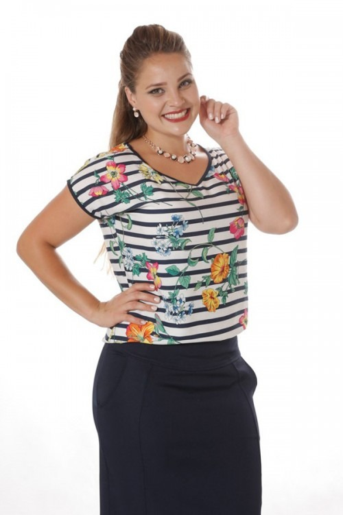 250db7fd9ef98 Camisa Blusa Decote V Viscose Estampada Plus Size Evangelica - R  77 ...