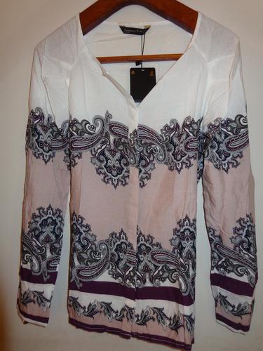 camisa blusa estampada