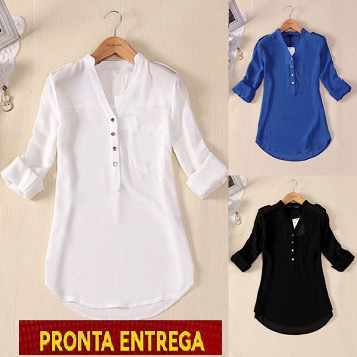 0ad9961297 camisa blusa feminina chiffon seda importada pronta entrega. Carregando  zoom.