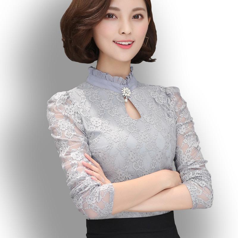 79c9a2a27 camisa blusa feminina renda social importada manga longa. Carregando zoom.