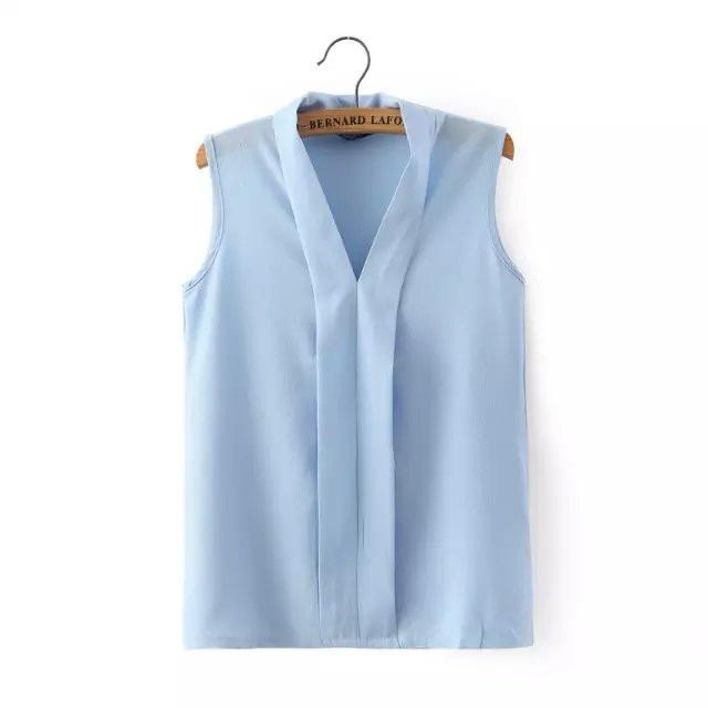416e9e8465 Camisa Blusa Feminina Sem Manga Social Chiffon Trabalho - R  51