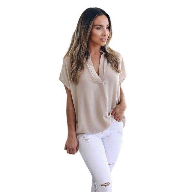 9d2f639a7 camisa blusa feminina social manga curta trabalho cores · camisa social  manga. Carregando zoom.