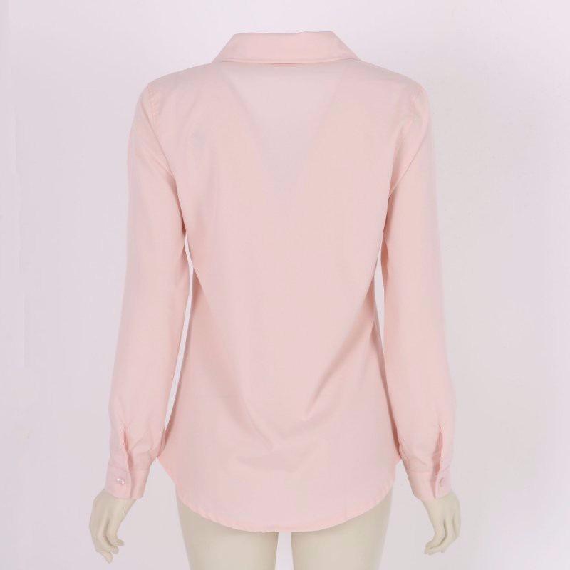 0583b363c camisa blusa feminina social manga longa cores rosa. Carregando zoom.