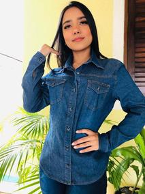 caf9c785db0c Camisa De Botao Jeans Feminina - Calçados, Roupas e Bolsas com o Melhores  Preços no Mercado Livre Brasil